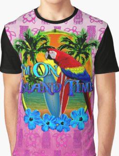 Island Time Pink Tiki Graphic T-Shirt