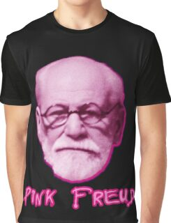 Pink Freud Head Graphic T-Shirt