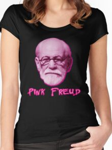 Pink Freud Head Women's Fitted Scoop T-Shirt