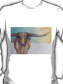 """LONESTAR LONGHORN"" at Dawn T-Shirt"