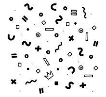 Random geometrical math Photographic Print