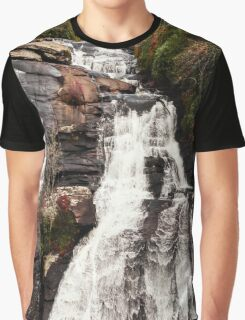High Falls Dupont State Forest Waterfall Graphic T-Shirt