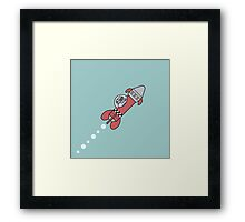 Space robot cadet Framed Print