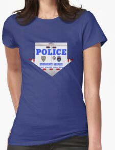 "Pixels Print ""NYPD"" Womens Fitted T-Shirt"
