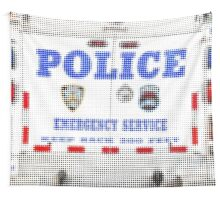 "Pixels Print ""NYPD"" Wall Tapestry"