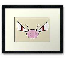 Mankey Face - Fighting Pokemon Framed Print