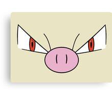 Mankey Face - Fighting Pokemon Canvas Print