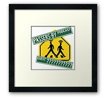 Passers-by Podcast Merchandise! Framed Print