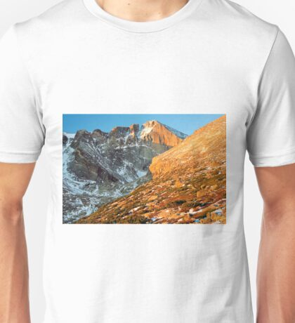 First Light at Longs Peak Unisex T-Shirt