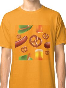 Oktoberfest repeating pattern Classic T-Shirt
