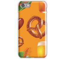Oktoberfest repeating pattern iPhone Case/Skin