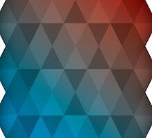 Red Blue Triangles by sammya89