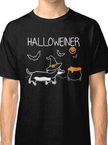 Happy Halloweiner T-Shirt - Halloween T-Shirt Dachshund Classic T-Shirt