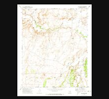 USGS TOPO Map Arizona AZ Hay Hollow 311691 1971 24000 Unisex T-Shirt