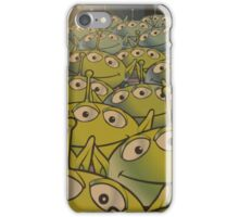 Little Green Men Friendly 3 Eyed Aliens  iPhone Case/Skin