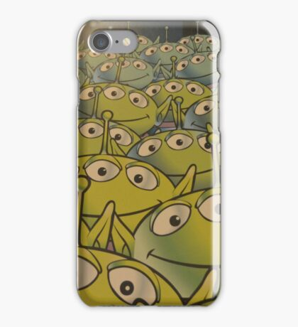 Little Green Men Friendly 3 Eyed Aliens  iPhone Case/Skin