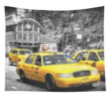 "Pixels Print ""MANHATTAN TAXIS"" Wall Tapestry"