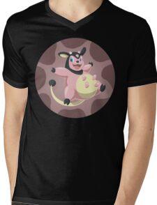 Miltank badge Mens V-Neck T-Shirt