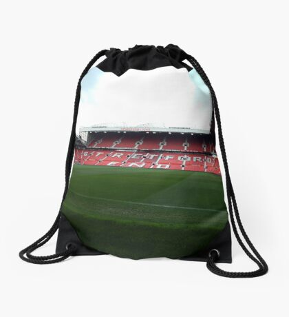 Manchester united - stretford end Drawstring Bag