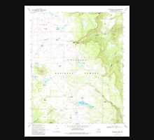 USGS TOPO Map Arizona AZ Kinnikinick Lake 311988 1970 24000 Unisex T-Shirt