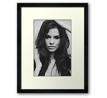 photo of beautiful girl is in fashion style Framed Print