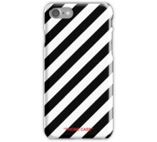 Caution Stripes off white iPhone Case/Skin