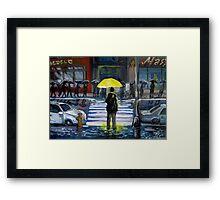 Yellow umbrella part 1 Framed Print