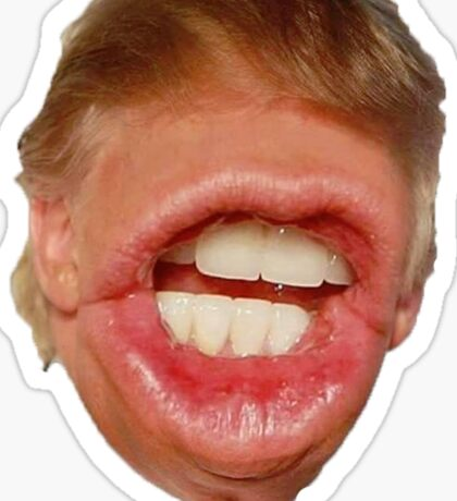 Trump All Mouth Sticker