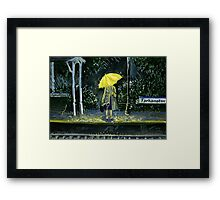 Yellow umbrella part 2 Framed Print