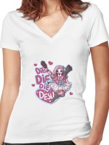 Lolita Reaper - Die Die Die Desu! Women's Fitted V-Neck T-Shirt