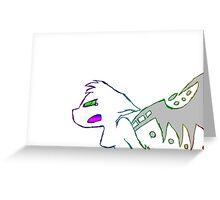 Angry Radioactive Rainbows Lines Greeting Card