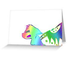 Angry Radioactive Rainbows Greeting Card