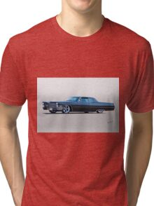 1967 Cadillac Custom Coupe DeVille I Tri-blend T-Shirt