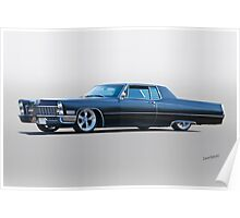 1967 Cadillac Custom Coupe DeVille I Poster
