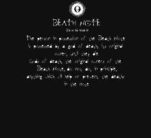 Death Note Rule 4 Unisex T-Shirt