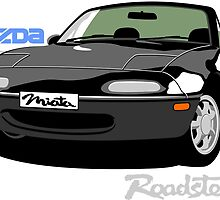 Mazda Miata black by car2oonz