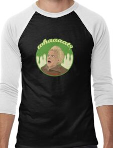 Ghostbusters Say What (Black) Men's Baseball ¾ T-Shirt