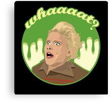 Ghostbusters Say What (Black) Canvas Print