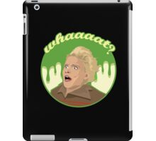 Ghostbusters Say What (Black) iPad Case/Skin