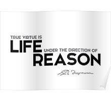 true virtue is life under the direction of reason - spinoza Poster