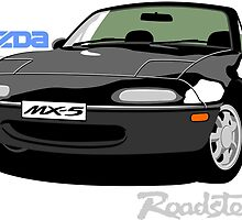 Mazda MX-5 black by car2oonz