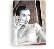 Breakfast with Milla Jovovich Canvas Print
