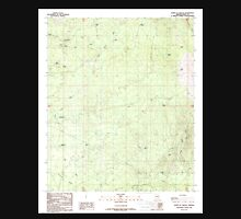 USGS TOPO Map Arizona AZ North of Oracle 312662 1988 24000 Unisex T-Shirt