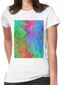 Psychedelic Line 3 Womens Fitted T-Shirt