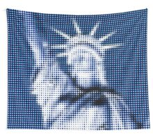 "Pixels Print ""BLUE LIBERTY"" Wall Tapestry"