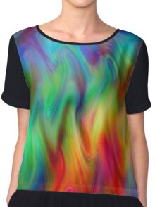Psychedelic Line 4 Chiffon Top