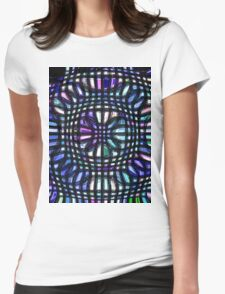 pastel cubes Womens Fitted T-Shirt