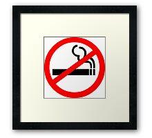 No Smoking Symbol Framed Print