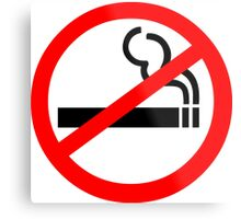 No Smoking Symbol Metal Print