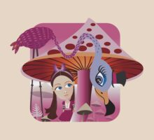 Alice in Mushroom land by Margaret Krajnc